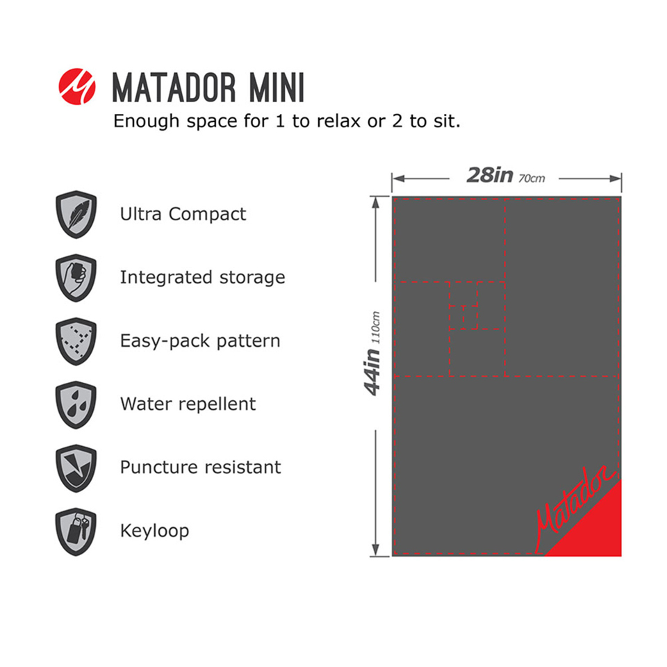 Pliage matador mini pocket blanket