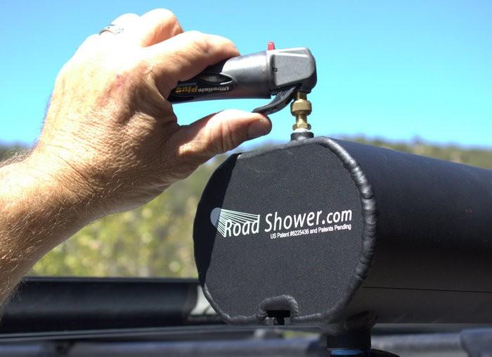 Road shower la douche solaire nouvelle g n ration - Fabriquer une douche solaire ...