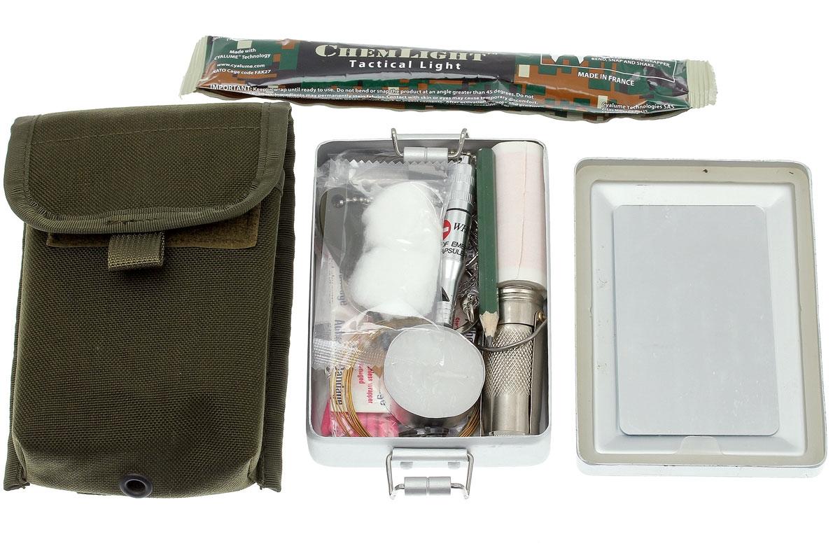 Kit de survie fourni avec le Fox Parang Bushcraft