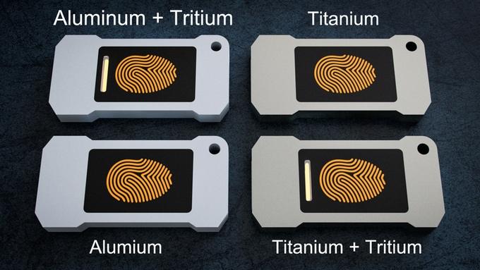 Lumen aluminium avec barre tritium