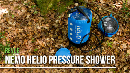 Revue de la douche portative helio pressure shower